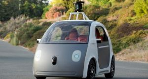 A prototype of a driverless car  in a photograph provided by Google. Yet much of the research to get us to the cusp of driverless cars has been carried out over the past 20 years with state support, in particularby  the US government-funded Defence Advanced Research Projects Agency