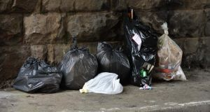 The removal of illegally dumped bin bags cost the council €670,000 last year. Photograph: David Sleator