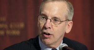 William C. Dudley, president and chief executive officer of the Federal Reserve Bank of New York said on Wednesday that a Federal Reserve interest rate hike next month seems less appropriate given the recent global market turmoil has increased the risks to the US economy. (Photograph: Eduardo Munoz/Reuters)