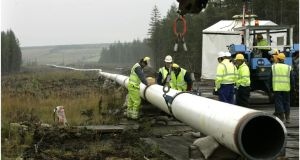 File photo: The dismantling of a section of the Corrib Gas Line, at Aughoose, Co Mayo, 2005. Photograph: Dara Mac Dónaill/The Irish Times