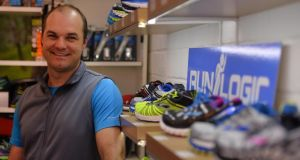 Ash Senyk owner of Run Logic. Photograph: Sara Freund / The Irish Times