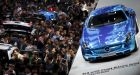 The Shanghai International Automobile Industry Exhibition. Mercedes's head of China operations said he was still positive about the country's car market, 'subject to some stabilisation of the stock market'. Photograph: Carlos Barria/Reuters
