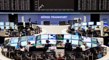 An information board shows the decline of the German DAX to a one-year low at the stock exchange in Frankfurt: Germany's stock markets, among other international markets, have fallen into bear markets. Photograph:  Christoph Schmidt/EPA