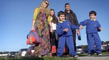 Benhaffaf twins walk into first day of school