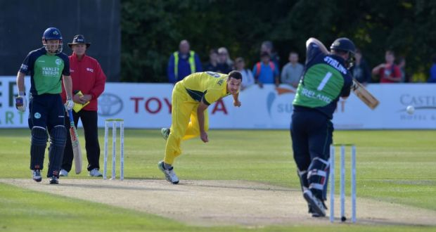 Nathan Coulter Nile Of Australia Takes The Wicket Paul Stirling Ireland During