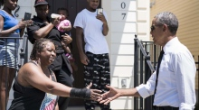 Obama praises the people of New Orleans
