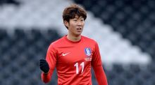 Tottenham have announced the signing of forward Son Heung-min from Bayer Leverkusen. Photograph: Jonathan Brady/PA
