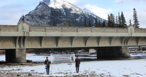 Detail from OH Alberta: Bewildered in Banff by Anna Macleod
