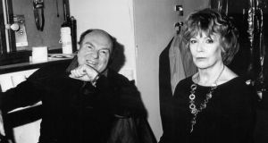 Van Morrison with edna O'Brien in his dressing room at the Lyric Theatre in London, December 2014. Photographs: Roger Rossmeyer/Corbis and John Minihan