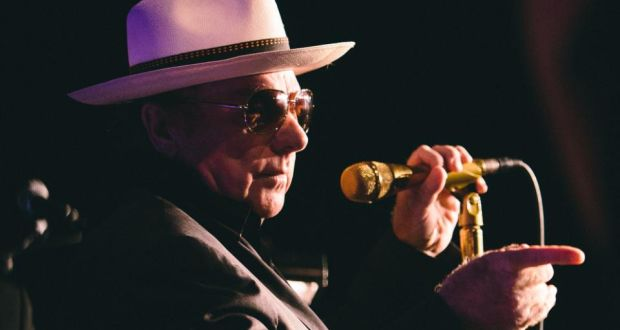 Surrendering to the yarragh: Van Morrison at Orangefield High, his old school in Belfast, in August 2014. Photograph: Exile Productions