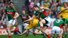 Using Barry Moran  as a defensive sweeper against Donegal to negate the influence of Michael Murphy was a bold statement by Mayo's joint managers Pat Holmes and Noel Connelly. Photograph: Cathal Noonan/Inpho
