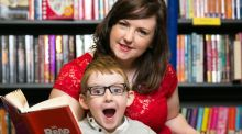 Patient: Aoife Kirwan with her son, Adam, at last year's MS Readathon. Photograph: Naoise Culhane