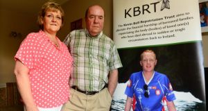 Colin and  Eithne Bell, who set up the Kevin Bell Repatriation Trust in memory of their son. Photograph: Cyril Byrne