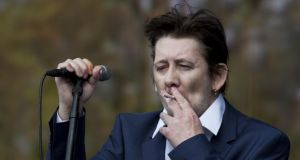 Shane MacGowan of The Pogues performs on stage at British Summer Time Festival at Hyde Park in 2014. Photograph:  Tristan Fewings/Getty Images
