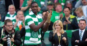 Tyler Blackett has joined Celtic on a season long loan from Manchester United. Photograph: Reuters