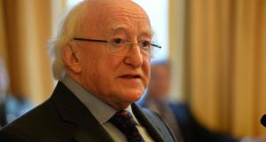 President Michael D Higgins. Photograph: Dara Mac Dónaill/The Irish Times