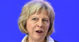 Britain's home secretary Theresa May who said that  net migration in to Britain was 'far too high' and 'simply unsustainable'.   Photograph: EPA