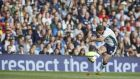 Greig Laidlaw Scotland captain converts his kick after Sean Lamont's try against Italy at  at Murrayfield Stadium. Photograph: Getty Images
