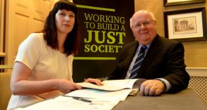 Policy analyst Michelle Murphy with SJI director Seán Healy. Photograph: Cyril Byrne