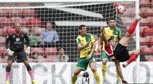 Southampton's Italian striker Graziano Pellè  tries an overhead kick against Norwich City at St Mary's Stadium. Photograph: Justin Tallis/AFP Photo/Getty Images