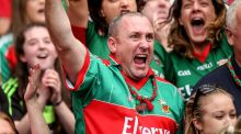 Mayo fans celebrate after their side scored a late penalty in their All-Ireland semi-final draw with Dublin. Photograph: James Crombie/Inpho