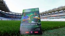 A view of the match programme. Photograph: Donall Farmer/Inpho