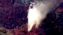 Firefighters battle wildfire in California