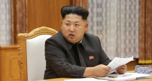 North Korean leader Kim Jong-Un. Photograph: AFP