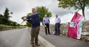 Tom Moloney, Tom Treacy and Ollie Robinson, former hurlers and committee members of Tynagh Abbey-Duniry GAA Club. Photograph: The Irish Times