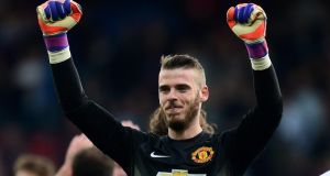 David de Gea: will remain at Old Trafford after his expected move to Real Madrid fell through. Photograph: Ben Stansall/AFP
