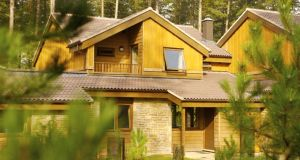 Parcs life: an Executive lodge at Center Parcs at Woburn Forest in England
