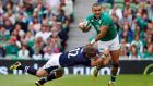 Simon Zebo is the one surprise in an otherwise anticipated selection with Dave Kearney on the wing. Photograph: Inpho