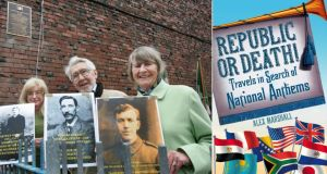 At the unveiling in 2011 of a plaque in Railway Street organised by the Dublin North Inner-City Folklore Project to commemorate those who composed, wrote and translated Amhrán na bhFiann (The Soldier's Song) were, from left, Valerie Heeney, a descendant of composer Patrick Heeney; Peadar Bourke, a nephew of lyricist Peadar Kearney; and Helein Crowley, a daughter of translator Liam Ó Rinn. Photograph: Matt Kavanagh
