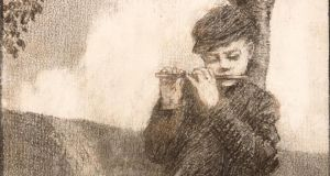 Detail from 'Boy with Flute' by Paul Henry