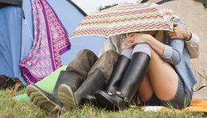 Electric Picnic campers in Stradbally should have no need for the wellies on Saturday and Sunday. Photograph: Getty Images