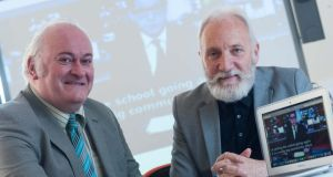 Prof Paul McKevitt and Prof Paul Moore from Ulster University's School of Creative Arts & Technologies.