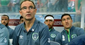 Republic of Ireland manager Martin O'Neill during the Group D qualifier against Gibraltar at Estadio do Algarve, in Faro, Portugal. Photograph:  John Sibley/Action Images via Reuters/Livepic