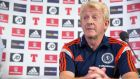 Scotland manager Gordon Strachan is hopeful his team can get a result against Germany. Photograph: Jeff Holmes/PA