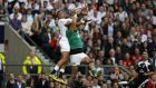 England's speed at the breakdown allowed them to put pressure on Ireland's backs, particularly Simon Zebo. Photograph: Afp