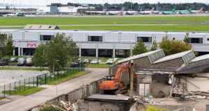 Demolition work at Shannon Free Zone to make way for the major development