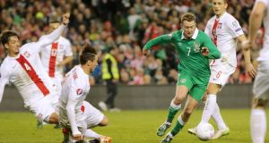 "Aiden McGeady: ""While he vividly recalled McGeady's wonder goal against Georgia a year ago, few other imprints sprang to mind."" Photograph: Inpho."