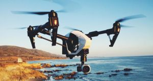 DJI's mid-range 'Inspire' drone which retails for about €3,500: While drones have not yet manifested themselves in large numbers at public events, it may only be a matter of time