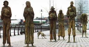 "The Famine sculpture in Dublin. ""Incremental dentine collagen analysis"" can show what children's diet was like during the Famine. File photograph: Frank Miller"