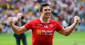 "Tyrone's Sean Cavanagh: ""You get the feeling within the squad at the moment that there is success to be had, and that helps drive you on."" Photograph: INPHO/Cathal Noonan"