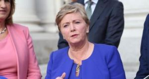Minister for Justice and Equality, Frances Fitzgerald said  refugees would start arriving in groups of 50 or 100 within weeks, with more coming before the end of the year. Photograph: Merrion Street