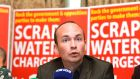 "Paul Murphy at a Anti Austerity Alliance event:  ""We will be appealing this blatant political policing all the way through the courts."" File photograph: Alan Betson/The Irish Times"
