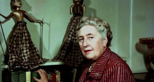 English detective novelist Agatha Christie, (1890-1976) pictured at her home in 1949.  She created the characters Hercule Poirot and Miss Marple. Photograph:  Popperfoto/Getty Images