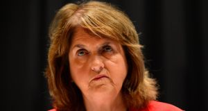 Tánaiste  Joan Burton: will not be called as witness in trials over anti-water protest where she was allegedly falsely imprisoned. Photograph: Dara Mac Dónaill