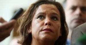 Mary Lou McDonald at a Sinn Féin meeting in Co Meath on Friday. Photograph: Brian Lawless/PA Wire