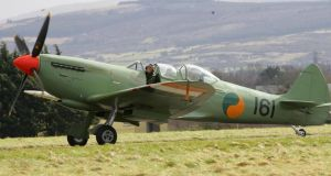 Paddy Finucane would have flown a Spitfire similar to this one seen at Casement Aerodrome in Baldonnel. Photograph: Bryan O'Brien/The Irish Times.